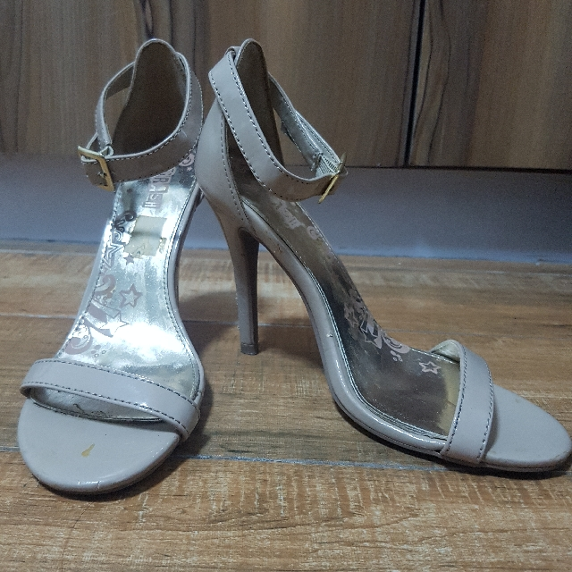 4e6a61bda1c7 Trash (Payless brand) Nude Patent Leather Ankle Strap Heels