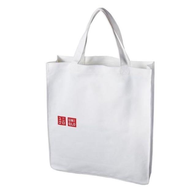 Uniqlo帆布袋 麻布袋 手提袋 環保袋 購物袋 肩背包 托特包