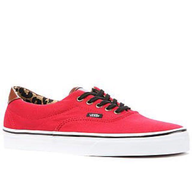 3a9cd96a6a Vans Era 59 Sneakers in Red   Leopard