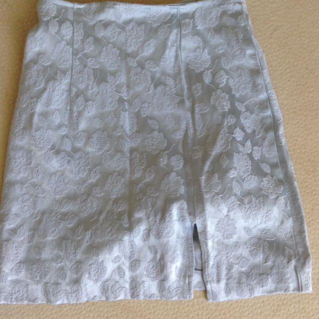Vintage baby blue tube skirt