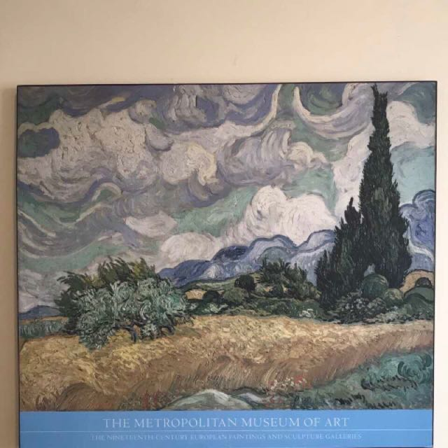 """Wheat Field with Cypresses"" poster print from Met Museum of Art NY"