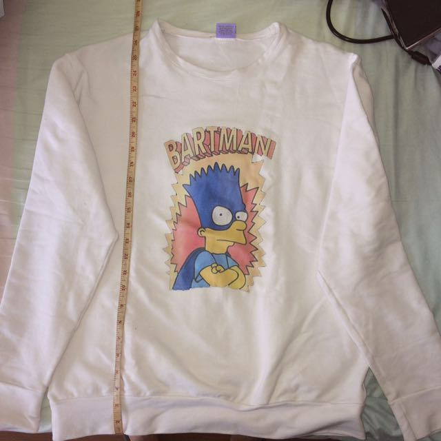 White Bartman Sweater