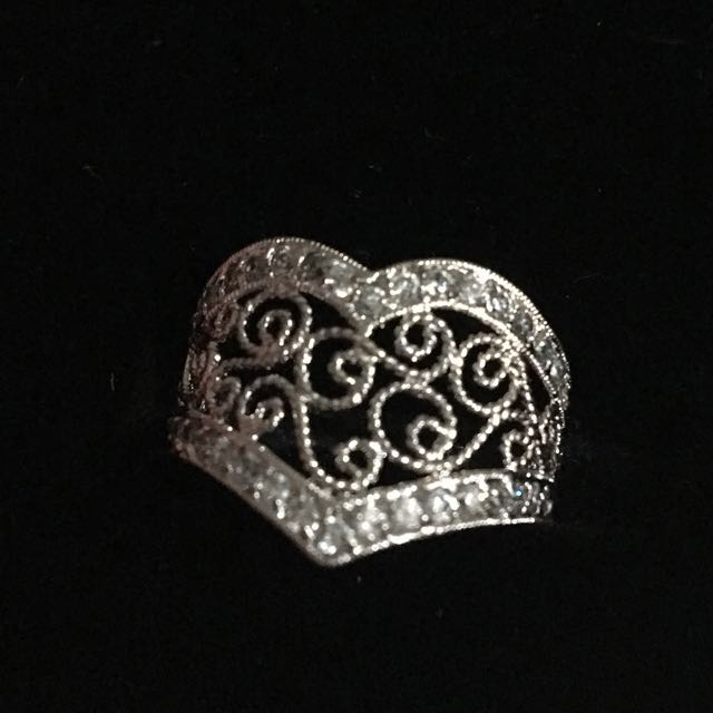 White gold plated ring