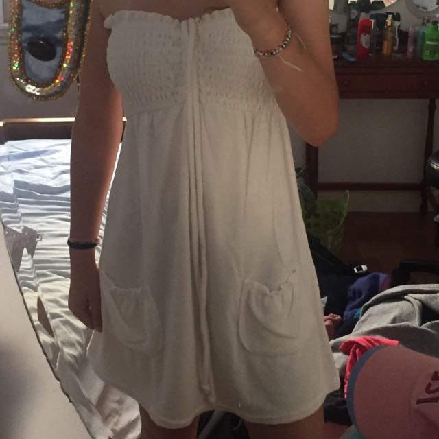 white towel dress