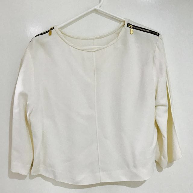 Witchery White Military Blouse