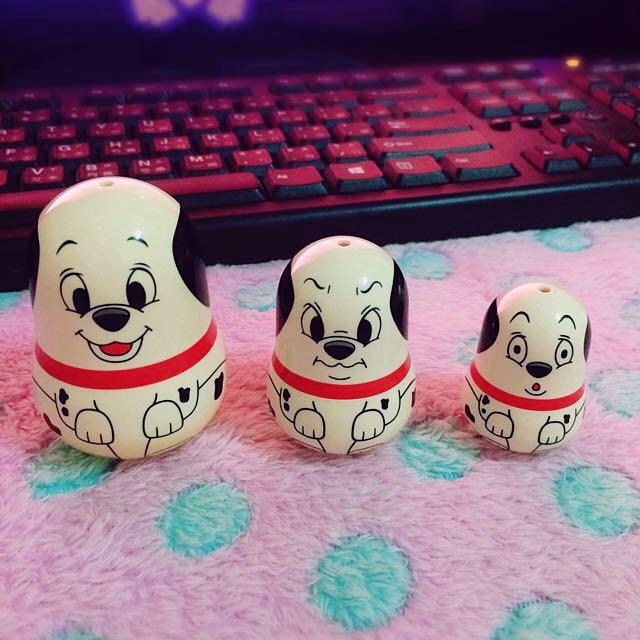 Yujin Disney 卡通絕版101忠狗 俄羅斯娃娃 公仔扭蛋