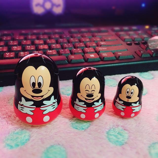 Yujin Disney卡通 絕版米奇Mickey 俄羅斯娃娃 公仔扭蛋