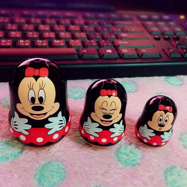 Yujin Disney卡通 絕版米妮minnie 俄羅斯娃娃 公仔扭蛋