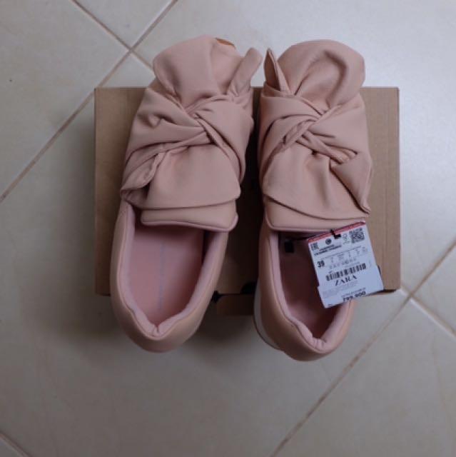 Zara Bow Nude Sneakers