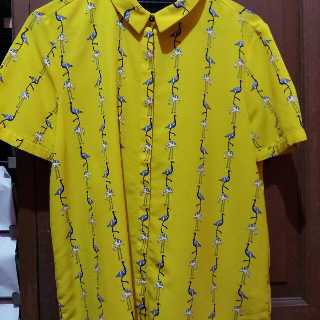 ZARA Yellow Shirt