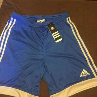 BRAND NEW Blue Adidas shorts With White Stripes