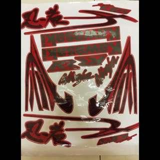 KRR KENJI STICKER SET (RED,BLACK,GREEN)