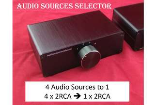 Audiophile Manual 4 Port Audio Source Selector