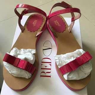 Red (v)桃紅色蝴蝶結涼鞋#我有涼鞋要賣