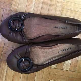 Brown Dressed Flats
