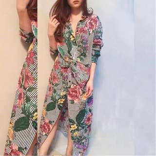 Flower Tropical Twist Zara Look a like Dress