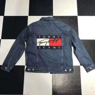 全新正品 Tommy 牛仔外套 古著 大logo