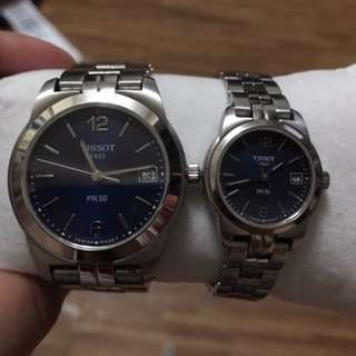 Original Tissot HIS and HER watches, Couple watch in one price!