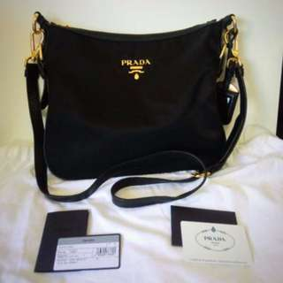 476ea2dd67f3 Original Prada BT0706 Tessuto Saffiano Nylon and Leather Crossbody  Messenger Bag New
