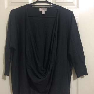 FOREVER21 Long Sleeves Knitted Full Cowhead Neckline