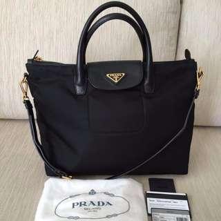 42dee555c1 100% Original Prada BN2541 Tessuto   Saffiano Tote Bag