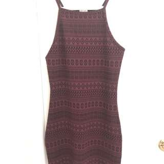 Maroon Aztec Print Dress from Garage