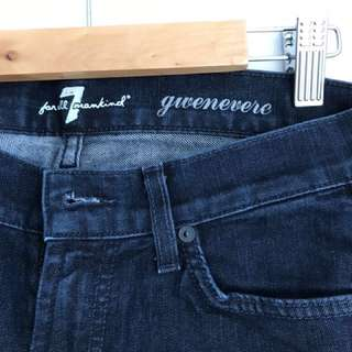 7 For All Mankind Gwenevere Ankle Zip Skinny Jeans - Size 25