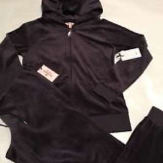 ISO black juicy couture tracksuit