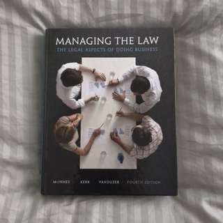 Managing the Law Fourth Edition