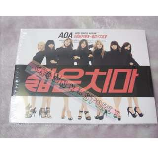 [LAST 1][CRAZY DEAL 50% OFF FROM ORIGINAL PRICE][READY STOCK]AOA KOREA 5TH SINGLE ALBUM (NO POSTER) SEALED ! NEW!OFFICIAL ORIGINAL FROM KOREA (PRICE NOT INCLUDE POSTAGE)PLEASE READ DETAILS FOR MORE INFO