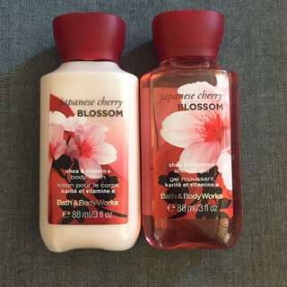 BBW lotion and body wash