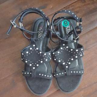 New and never worn black stud sandals