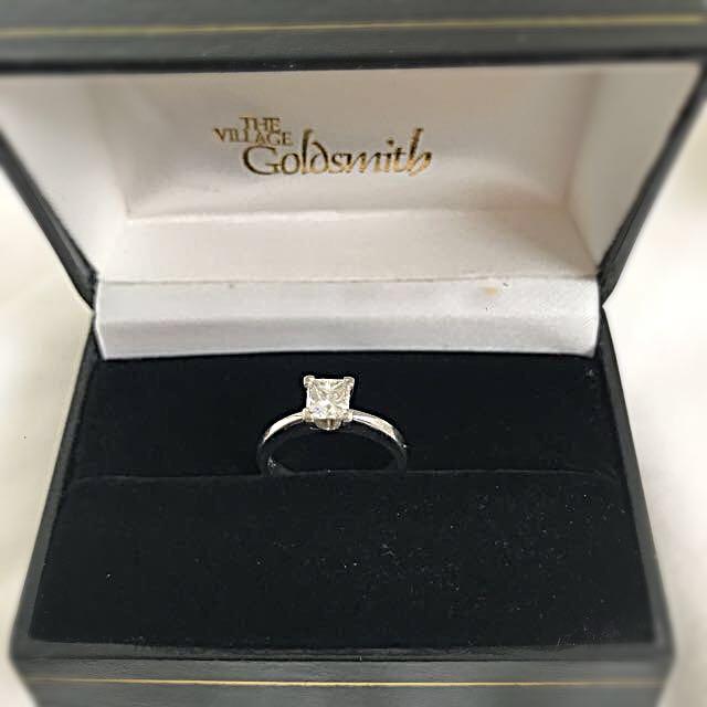 0.62 Ct Princess Cut diamond