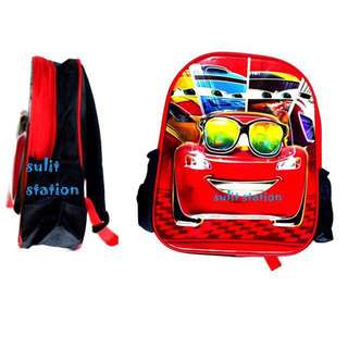 CARS LIGHTNING McQUEEN EMBOSS SCHOOL BACKPACK BAG