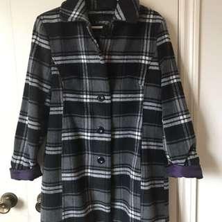 Gray plaid coat (medium)