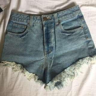 Glassons raw hem shorts