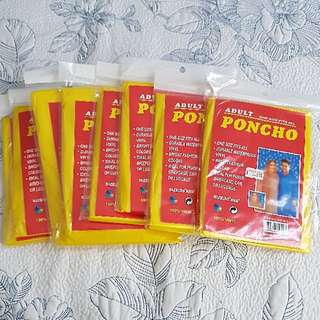8x Adult Waterproof Poncho - One Size Fits All