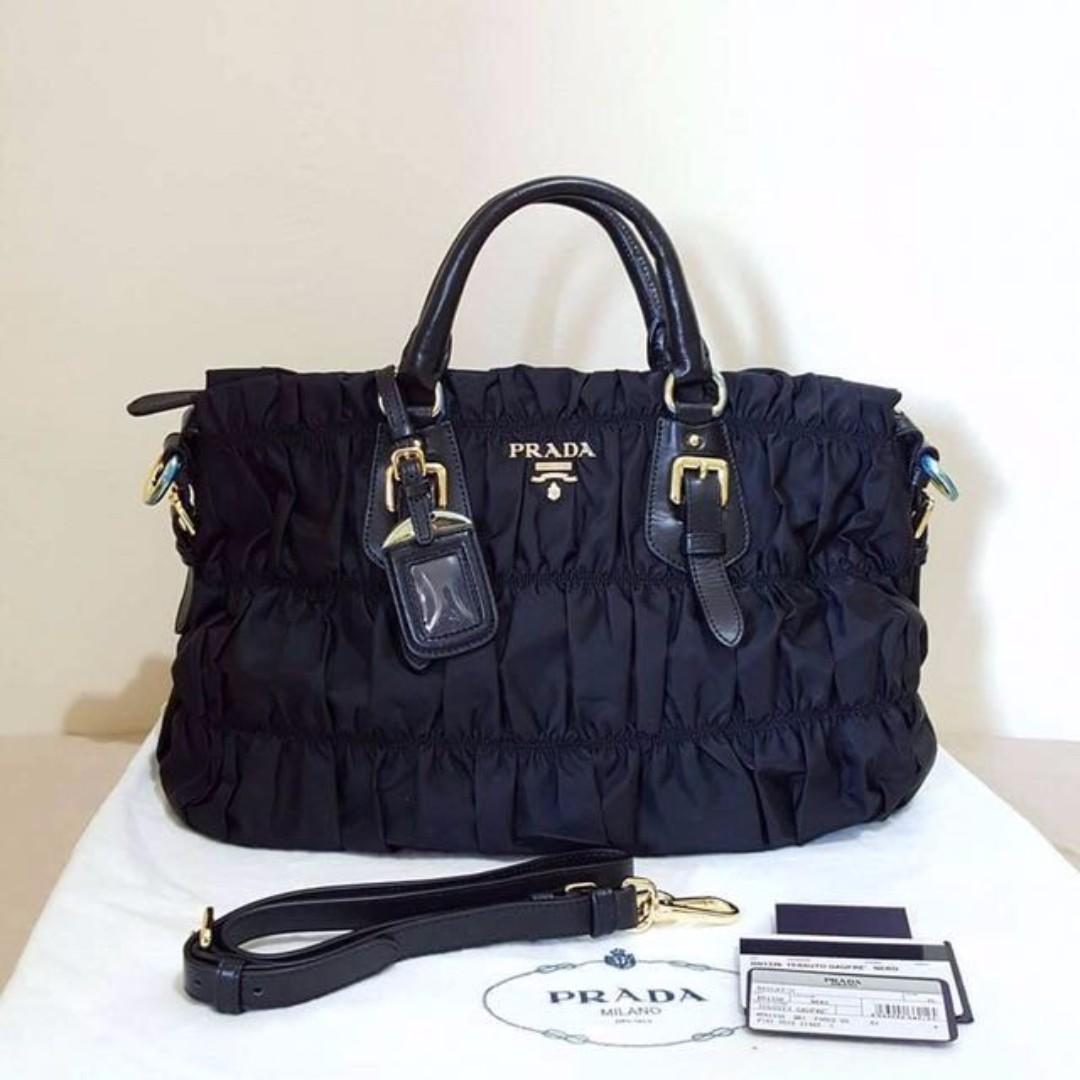 8328c327e49b ... spain 100 original prada bn1336 tessuto gaufre nero luxury bags wallets  on carousell 16296 f1630 usa tessuto gaufre tote ...