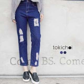 NEW! TOKICHOI - Distressed Boyfriend Jeans-6028578-Winter
