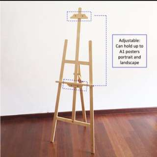 Easels;Big Sale!!!1.45m wooden easel stand,Art studio,wedding display,drawing A1 poster