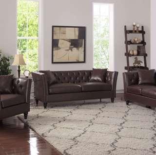 Brand new 3 pcs sofa set