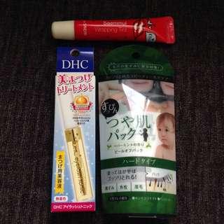 Bundle Sale! Saemmul Lip tattoo, Gel peel off mask, DHC eyelash tonic