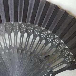 復古扇 木質 暗黑風日系和風古裝中國風迷你size 適合cosplay