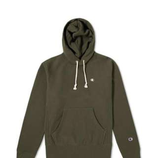 Champion reverse weave olive hoodie