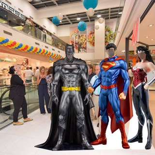Real Life Size Superhero Standees for Event Marketing Roadshow Party
