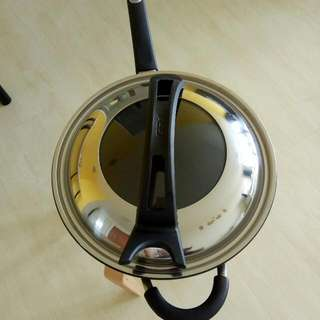 ASD 32cm Cast Skillet Wok with Self Standing Cover