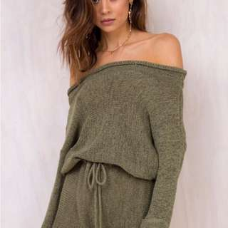Sabo skirt khaki playsuit