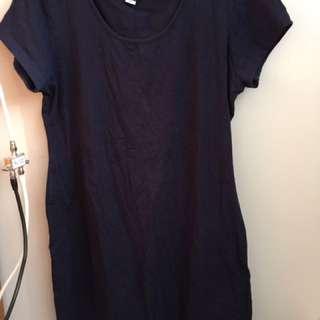 Blue tee shirt dress