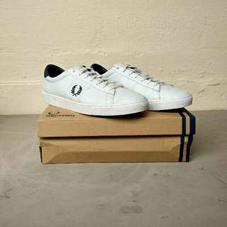 Fred Perry Spencer Leather White