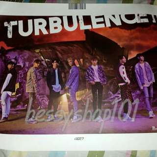 GOT7 FLIGHT LOG: TURBULENCE OFFICIAL POSTER - 300 EACH